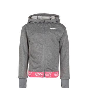 Full-Zip Kapuzenjacke Kinder, grau / pink, zoom bei OUTFITTER Online