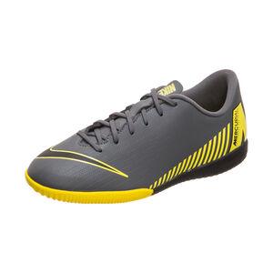 Mercurial VaporX XII Academy Indoor Fußballschuh Kinder, dunkelgrau / gelb, zoom bei OUTFITTER Online