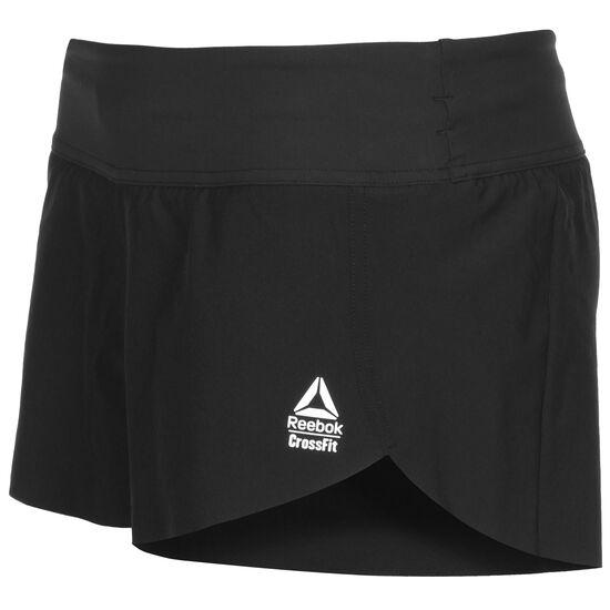CrossFit Trainingsshorts Damen, schwarz, zoom bei OUTFITTER Online