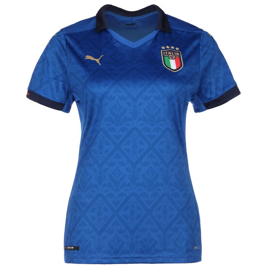 Italien Trikot Home EM 2021 Damen, blau / dunkelblau, zoom bei OUTFITTER Online