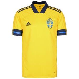 Schweden Trikot Home EM 2020 Herren, gelb / dunkelblau, zoom bei OUTFITTER Online