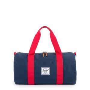 Sutton Mid-Volume Duffel Tasche, dunkelblau / rot, zoom bei OUTFITTER Online