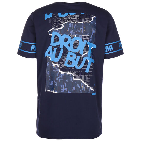 Olympique Marseille FtblCulture II T-Shirt Herren, dunkelblau / hellblau, zoom bei OUTFITTER Online