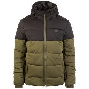 Hooded 2-Tone Puffer Winterjacke Herren, oliv / schwarz, zoom bei OUTFITTER Online