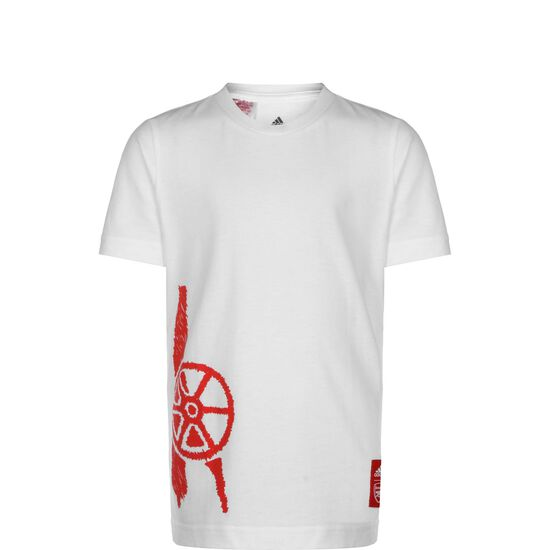 FC Arsenal Graphic T-Shirt Kinder, weiß / rot, zoom bei OUTFITTER Online