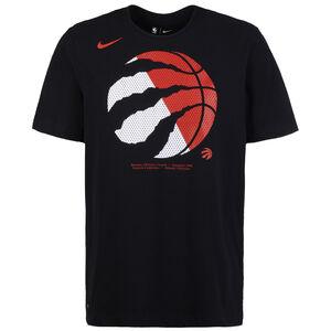 NBA Toronto Raptors Dry Logo T-Shirt Herren, schwarz / rot, zoom bei OUTFITTER Online