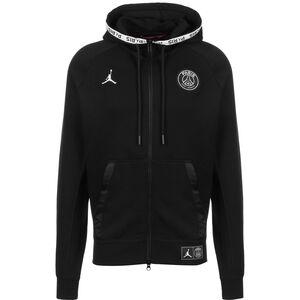Paris St-Germain Jordan Fleece Jacke Herren, schwarz / weiß, zoom bei OUTFITTER Online
