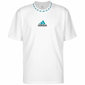 Real Madrid Icon T-Shirt Herren, weiß / petrol, zoom bei OUTFITTER Online