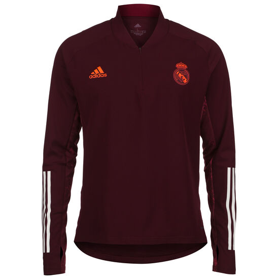 Real Madrid Trainingspullover Herren, bordeaux / weiß, zoom bei OUTFITTER Online