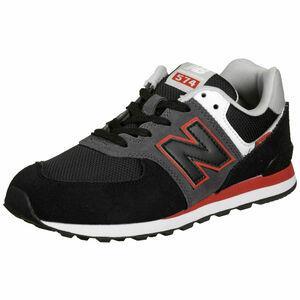 574 Sneaker Kinder, schwarz / rot, zoom bei OUTFITTER Online