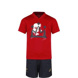 Salah Trainingsanzug Kinder, rot / dunkelblau, zoom bei OUTFITTER Online