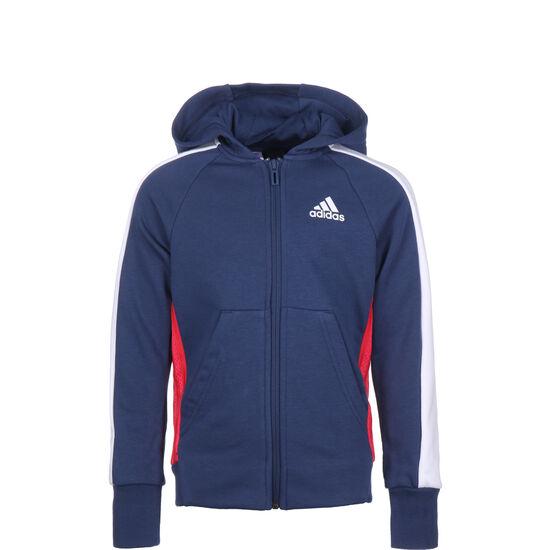 Athletics Club Kapuzensweatjacke Kinder, dunkelblau / weiß, zoom bei OUTFITTER Online