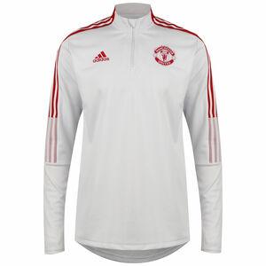 Manchester United Trainingssweat Herren, hellgrau / rot, zoom bei OUTFITTER Online