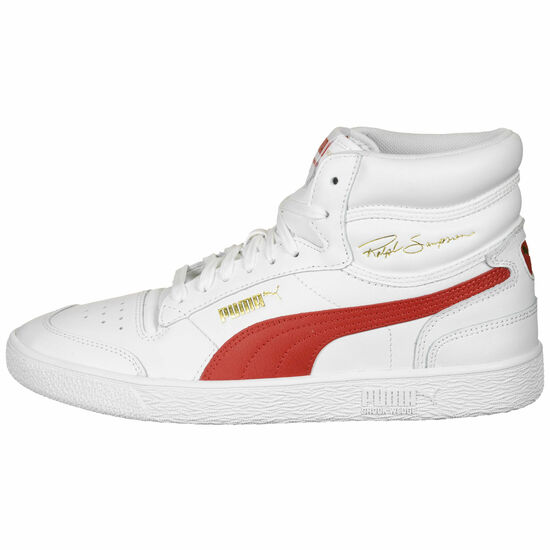 Ralph Sampson Mid Sneaker, weiß / rot, zoom bei OUTFITTER Online