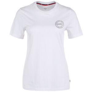 Stamp Logo T-Shirt Damen, weiß / schwarz, zoom bei OUTFITTER Online