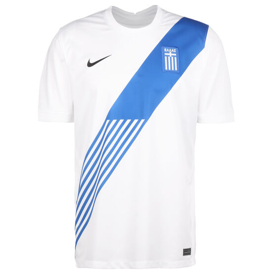 Griechenland Trikot Home Stadium EM 2021 Herren, weiß / blau, zoom bei OUTFITTER Online
