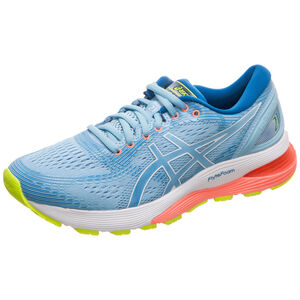 Gel-Nimbus 21 Laufschuh Damen, hellblau / blau, zoom bei OUTFITTER Online