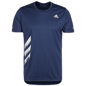 Run It 3-Stripes Laufshirt Herren, dunkelblau, zoom bei OUTFITTER Online