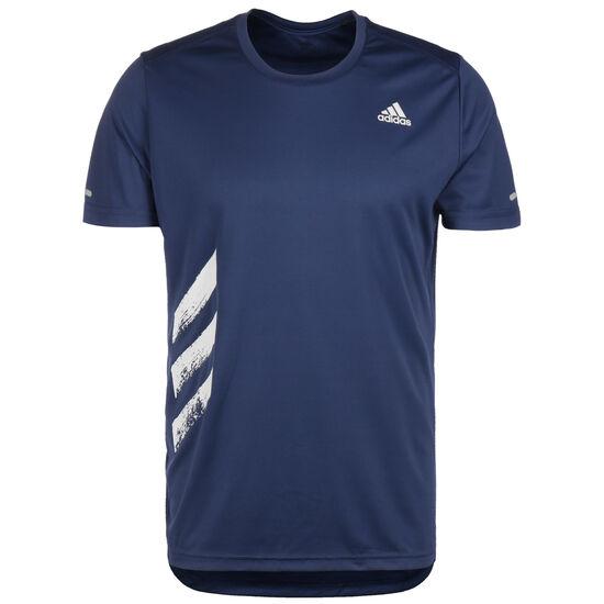 Run It 3-Stripes Laufshirt Herren, dunkelblau, zoom bei OUTFITTER Online