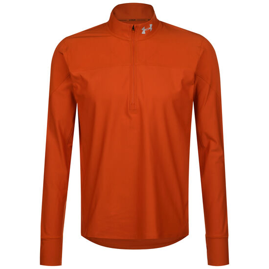 HeatGear Qualifier Half Zip Laufshirt Herren, orange, zoom bei OUTFITTER Online