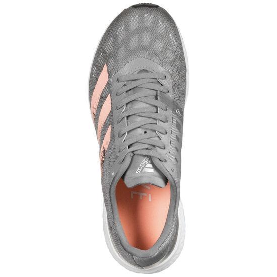 Adizero Boston 9 Laufschuh Damen, grau / rosé gold, zoom bei OUTFITTER Online