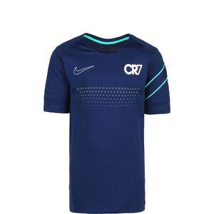 CR7 Fußballshirt Kinder, blau / silber, zoom bei OUTFITTER Online