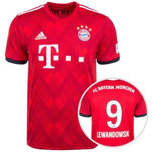FC Bayern München Trikot Home Lewandowski 2018/2019 Herren, Rot, zoom bei OUTFITTER Online