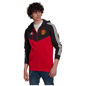 Manchester United 3-Streifen Kapuzenjacke Herren, schwarz / rot, zoom bei OUTFITTER Online