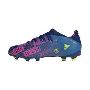 X Speedflow Messi.3 FG Fußballschuh Kinder, blau / pink, zoom bei OUTFITTER Online