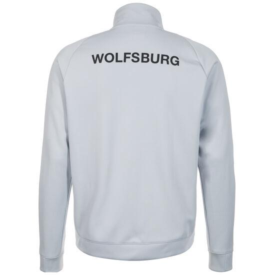 VfL Wolfsburg Authentic Track Trainingsjacke Herren, Weiß, zoom bei OUTFITTER Online