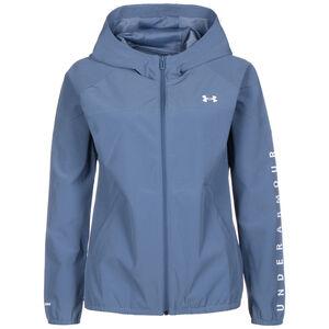 Woven Hooded Laufjacke Damen, blau / weiß, zoom bei OUTFITTER Online