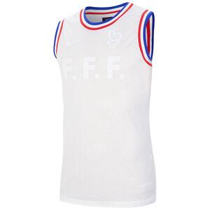 FFF Frankreich Basketball Tanktop Herren, weiß / blau, zoom bei OUTFITTER Online