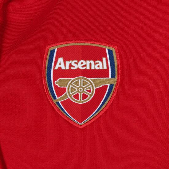 FC Arsenal 3-Streifen Kapuzenjacke Herren, rot / weiß, zoom bei OUTFITTER Online