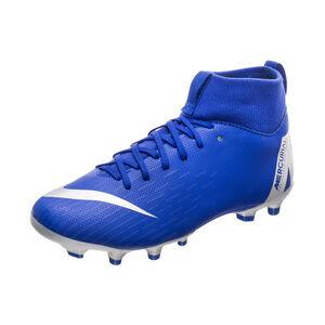 Mercurial Superfly VI Academy MG Fußballschuh Kinder, blau / schwarz, zoom bei OUTFITTER Online