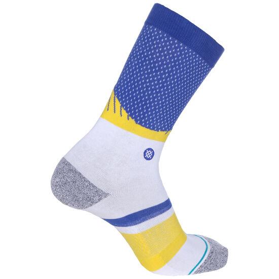 NBA Golden State Warriors Shortcut 2 Socken, blau / gelb, zoom bei OUTFITTER Online