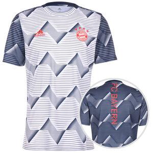 FC Bayern München Pre-Match T-Shirt Herren, weiß / blau, zoom bei OUTFITTER Online