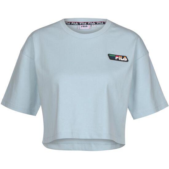 Olympe Cropped T-Shirt Damen, hellblau / hellgrau, zoom bei OUTFITTER Online