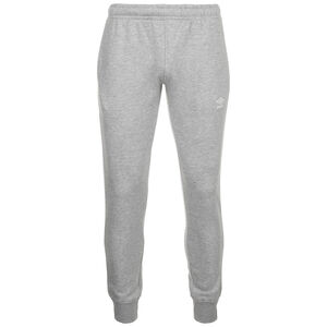 Tapered Fleece Trainingshose Herren, hellgrau / weiß, zoom bei OUTFITTER Online