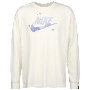 Sportswear Longsleeve Herren, weiß / blau, zoom bei OUTFITTER Online
