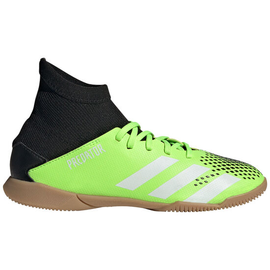Predator 20.3 Indoor Fußballschuh Kinder, hellgrün / schwarz, zoom bei OUTFITTER Online