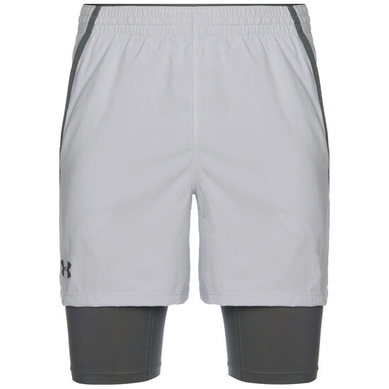 HeatGear Qualifier 2-in-1 Trainingsshort Herren, grau / anthrazit, zoom bei OUTFITTER Online