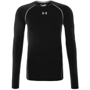 HeatGear Armour Compression Trainingsshirt Herren, Schwarz, zoom bei OUTFITTER Online