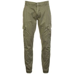 Washed Cargo Twill Jogginghose Herren, oliv, zoom bei OUTFITTER Online