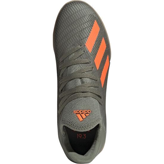 X 19.3 Indoor Fußballschuh Kinder, oliv / orange, zoom bei OUTFITTER Online