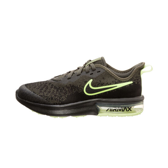 Air Max Sequent 4 Sneaker Kinder, oliv / neongelb, zoom bei OUTFITTER Online