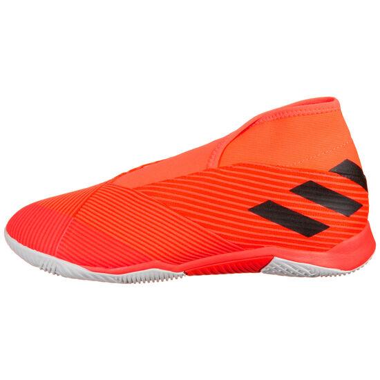 Nemeziz 19.3 Laceless Indoor Fußballschuh Herren, orange / schwarz, zoom bei OUTFITTER Online