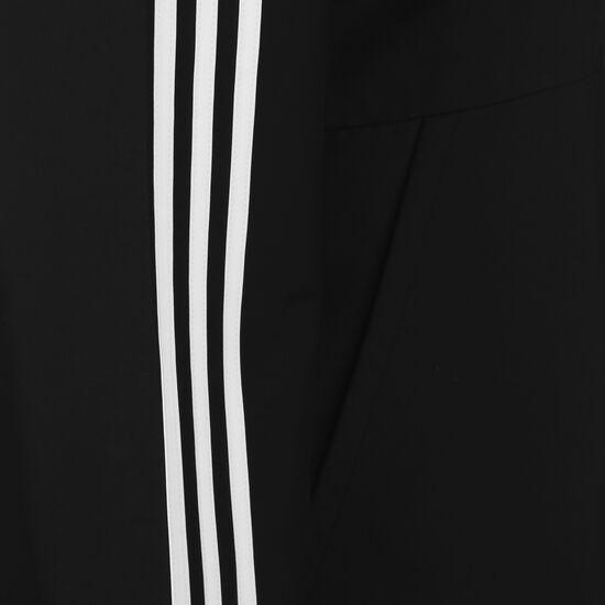Essentials 3-Stripes Woven Windbreaker, schwarz / weiß, zoom bei OUTFITTER Online