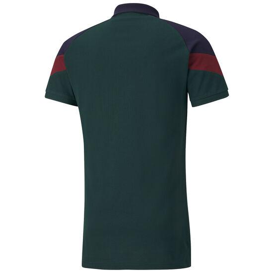 FIGC Italien Iconic MCS Poloshirt EM 2020 Herren, dunkelgrün / blau, zoom bei OUTFITTER Online
