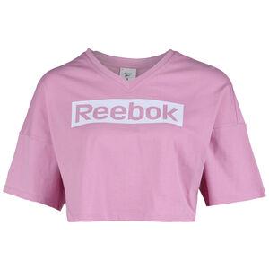 Training Essentials Linear Logo Grap Trainingsshirt Damen, rosa / weiß, zoom bei OUTFITTER Online
