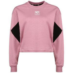 Rebel Crew Sweatshirt Damen, rosa / schwarz, zoom bei OUTFITTER Online